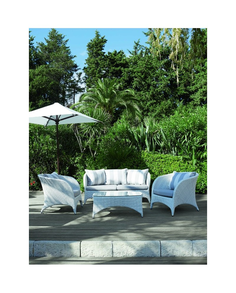 Salon de jardin 39 39 new york 39 39 blanc vlaemynck for Jardin new york