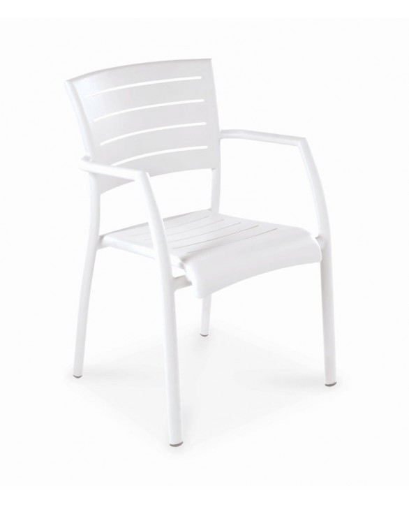 Fauteuil Madison blanc - VLAEMYNCK